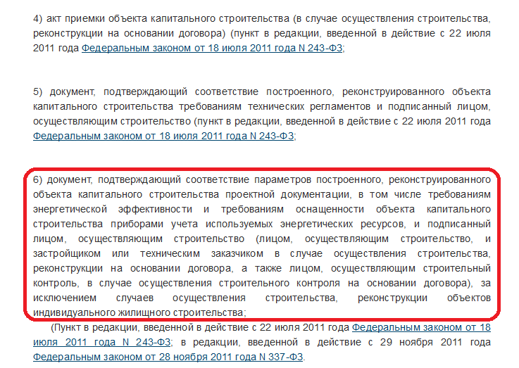 ч.3 ст. 55 ГрК РФ